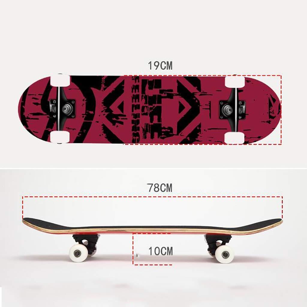 JIN Street Skill Skateboard Skateboard Skateboard Anfänger Skateboard Short Board Weibliche Erwachsene Anfänger Bilaterales Schrägbrett (Farbe   B) B07QB9Q2P8 Skateboards Die erste Reihe von umfassenden Spezifikationen für Kunden 056365