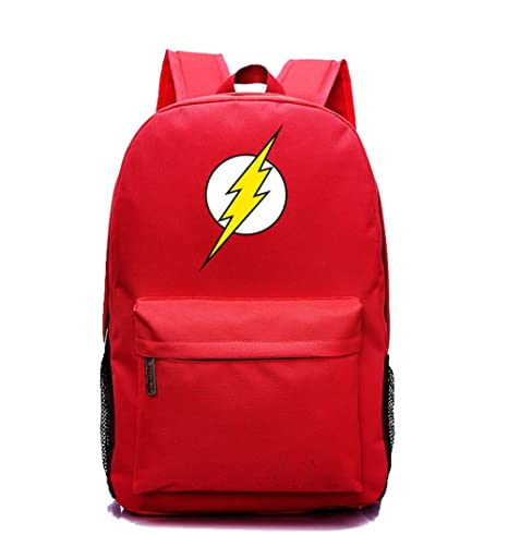 c1e695bbe5b6 YOURNELO Leisure DC Comics Marvel Heroes High Capacity Rucksack School  Backpack Bookbag (The Flash Red)