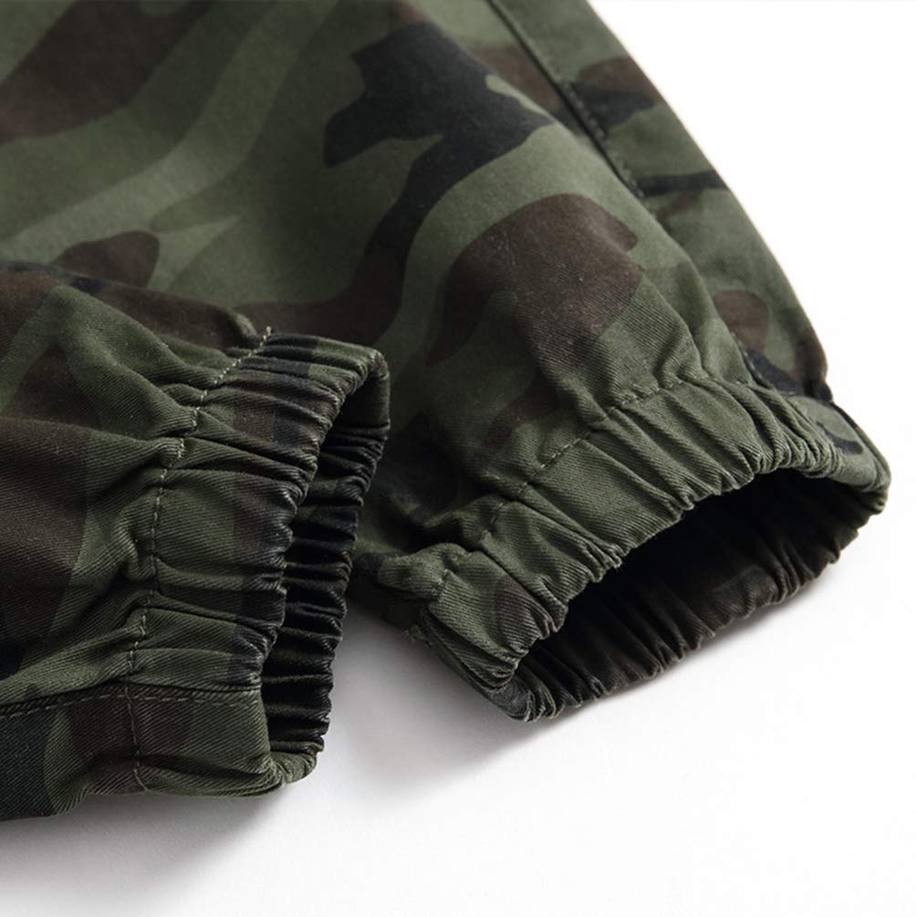 Laus Boys Camo Joggers Fleece Lined Military Jogging Bottoms Camouflage Print