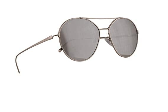 3020f18e4459f Image Unavailable. Image not available for. Color  Prada PR56US Sunglasses  Silver w Light Grey Mirror Silver 55mm Lens ...