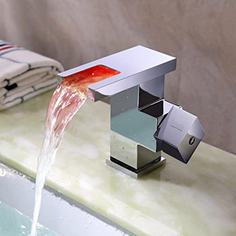 Lightinthebox® Single Handle Widespread Waterfall Bathroom Vessel ...