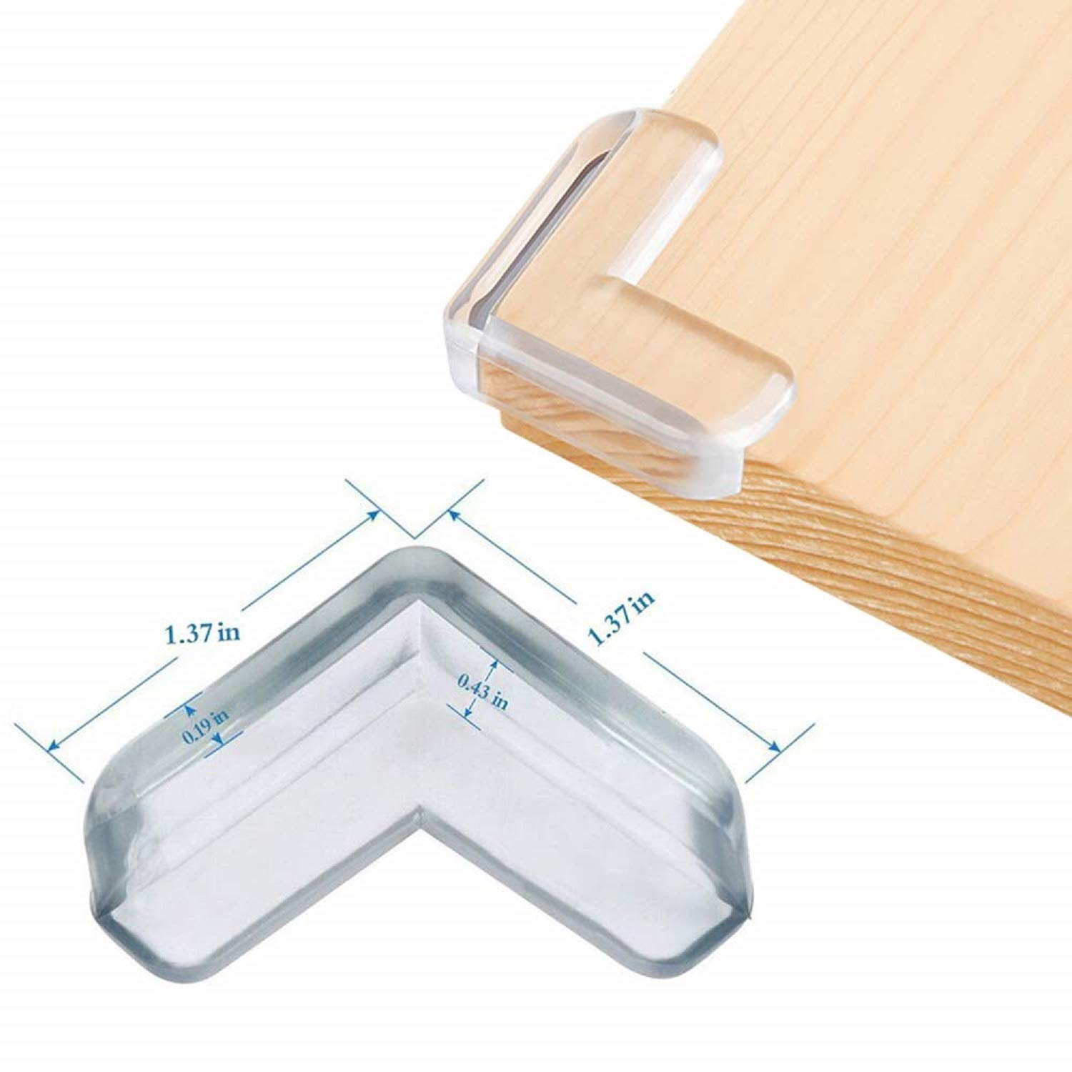 Smile Face JIOUDI Corner Protectors for Kids,Premium Quality Clear Soft and Large Table Edge Bumper Guards for Child and Baby Proofing Installs in Seconds with Extra Strong Adhesive