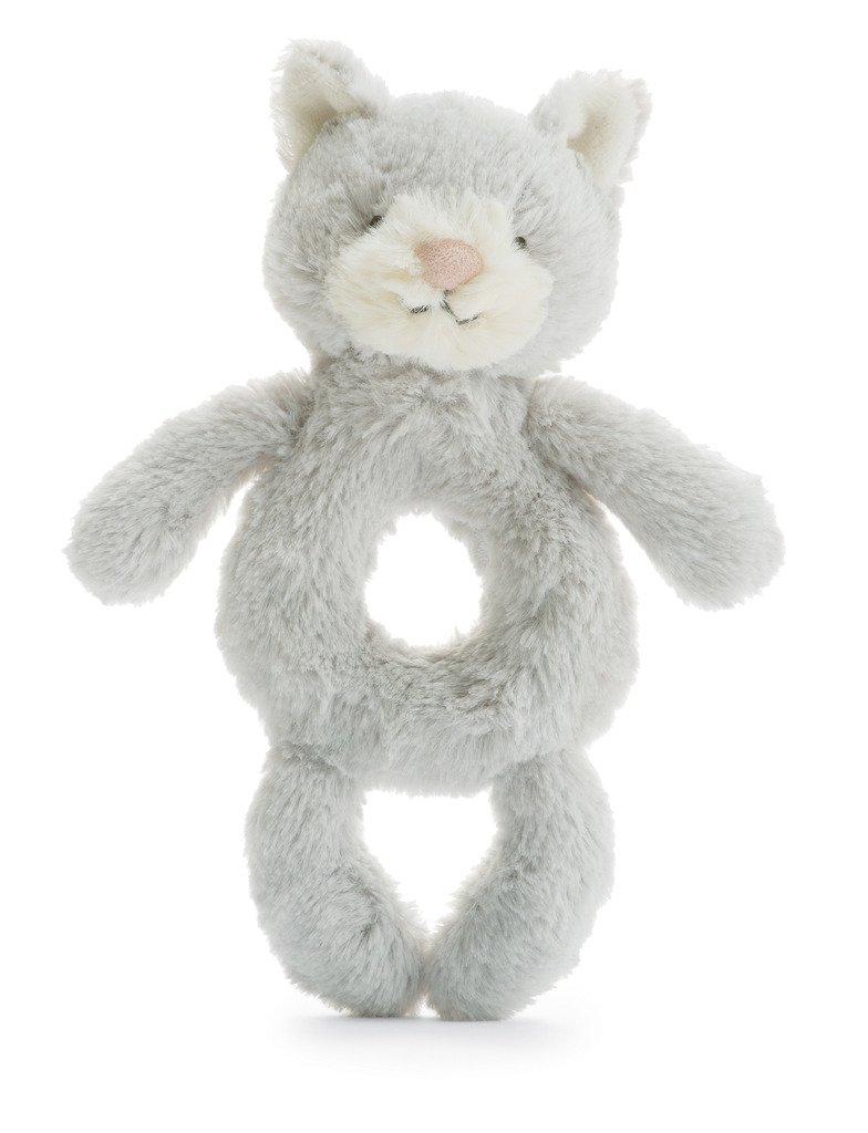 Jellycat Bashful Kitty Ring Rattle, 6 inches