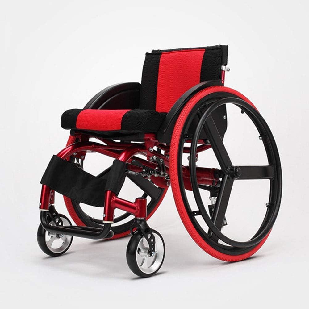 Lámpara plegable para silla de ruedas deportiva y de ocio portátil de aleación de aluminio ultraligera de liberación rápida rueda trasera amortiguador trolley discapacitados ancianos conducción médica