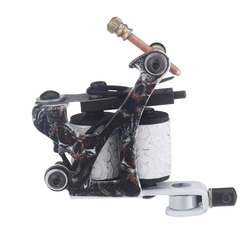 Docooler Professional Tattoo Machine Gun Shader Liner Senior Cast Iron 10 Wrap Coils Free Spring