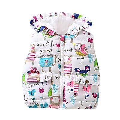 Transer ® 1-4 ans bébé garçon filles mignonnes animal capuche vestes zippé gilet