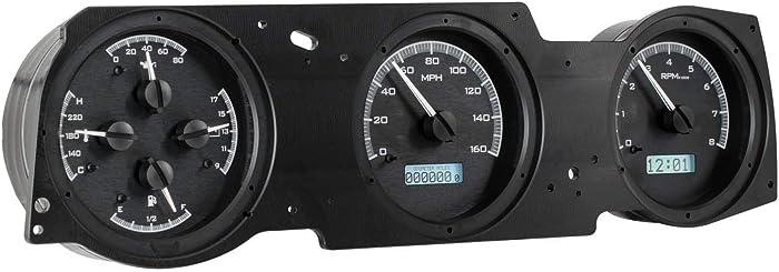Dakota Digital 70 71 72 Oldsmobile Cutlass VHX Analog Dash System Black Alloy White VHX-70O-CUT-K-W