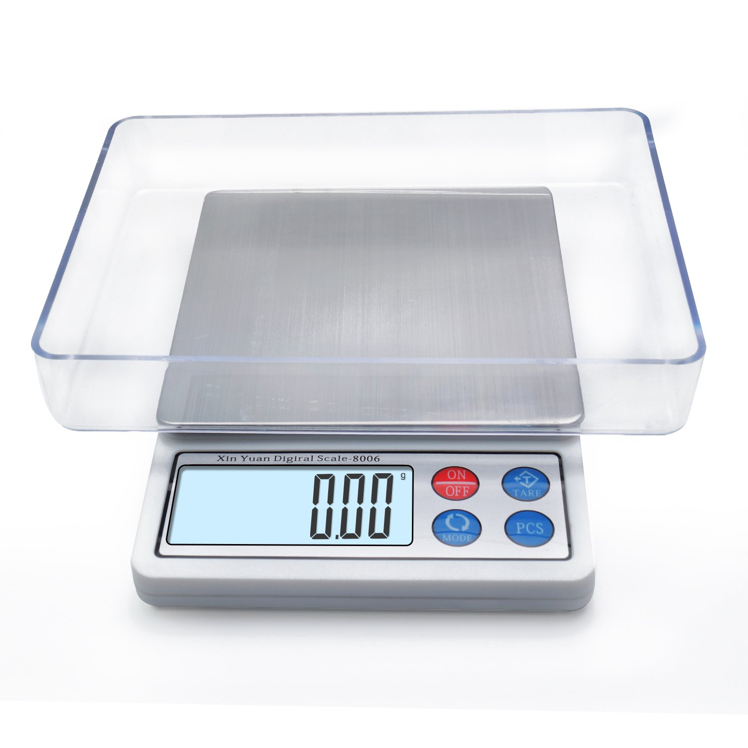Digital Kitchen Scale, Mini Gram Jewelry Food Scale 600g/0.01g, Toprime High Precision Pocket Scale with LCD display and 1 Tray, Stainless Steel, Power Saving