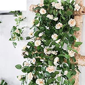 230cm Artificial Flower Vines Wedding Decor Rose Fake Flowers Rattan String Hanging Garl Silk Flower Plant Leaf 85