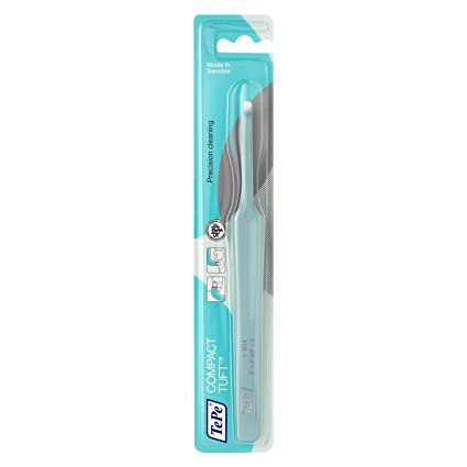TePe Compact Tuft - Cepillo manual de cabezal pequeño/Cepillo de ortodoncia/ Cepillo para