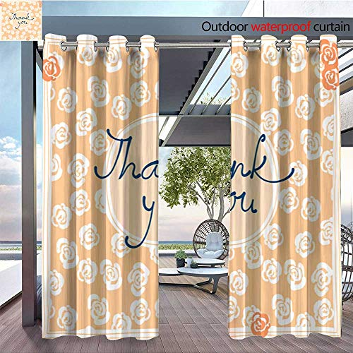 (QianHe Patio Curtains Thank-You-Card-Design-Template-Simple-Greeting-Card-Elegant-Note-Label-Thanksgiving-Symbol-sign4.jpg Outdoor Curtain for Patio,Outdoor Patio Curtains W84 x L84(214cm x 214cm))