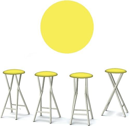 Best of Times 13169W2504 Vintage Lemonade 30″ Portable Padded Bar Stools