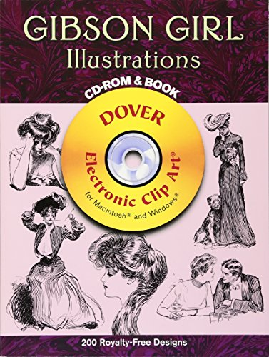 Gibson Girl Illustrations CD-ROM and Book (Dover Electronic Clip Art) (Of Girls Clipart)
