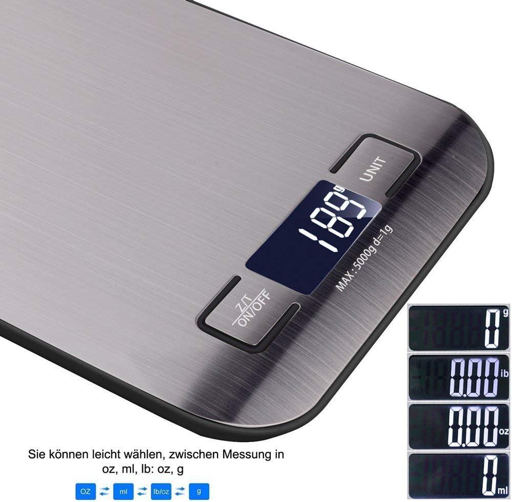 Báscula Digital de Cocina, Hotchy Escala de la escala de la cocina ...