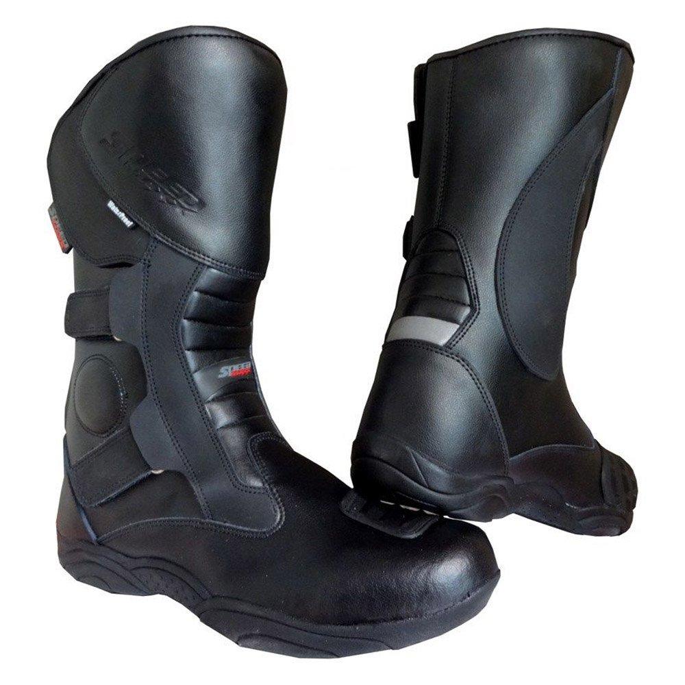 Black Hawk High Tech pour Homme pour Moto CE Touring Chaussures en Cuir/Bottes SM-2500
