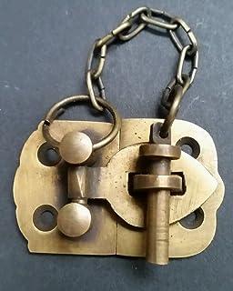 Ornate Antique Style Solid Brass Door Latch Lock Bolt Barn Gate Cabinet #X11