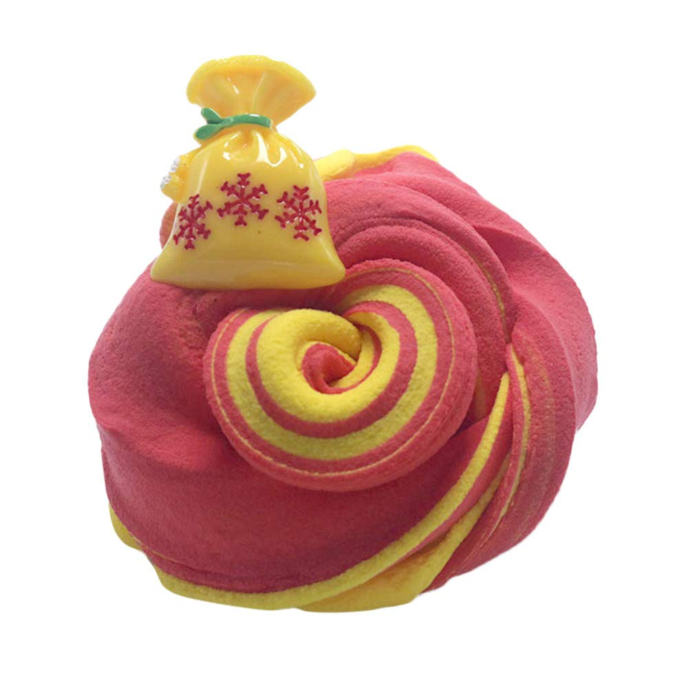 Christmas Roysberry Toys - Slime Squishies Jumbo Slow Rising Cute Christmas Mud Toys, Toddler Toys Cute Stress Relief Toys Ball Squishy Soft Kawaii for Adults 3D Puzzle Toys for Kids for Girls (E)
