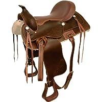 """Kerbl Silla Western, marrón 16"""""""