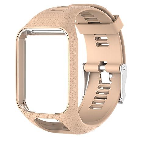 Favourall Bracelet Tomtom Runner Spark/Spark 3/Runner 2/Runner 3/Golfer 2/Adventurer Montre Watchband Watchstrap Wristband Taille Fin 25mm,Kaki: Amazon.fr: ...