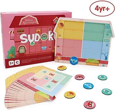 ANIKI TOYS Animal Apartment Sudoku Juegos de Mesa magnéticos Número Puzzle Toy de Viaje - 4 5 6 7 años Juguete Educativo para niños (Nivel Principiante): Amazon.es: Juguetes y juegos