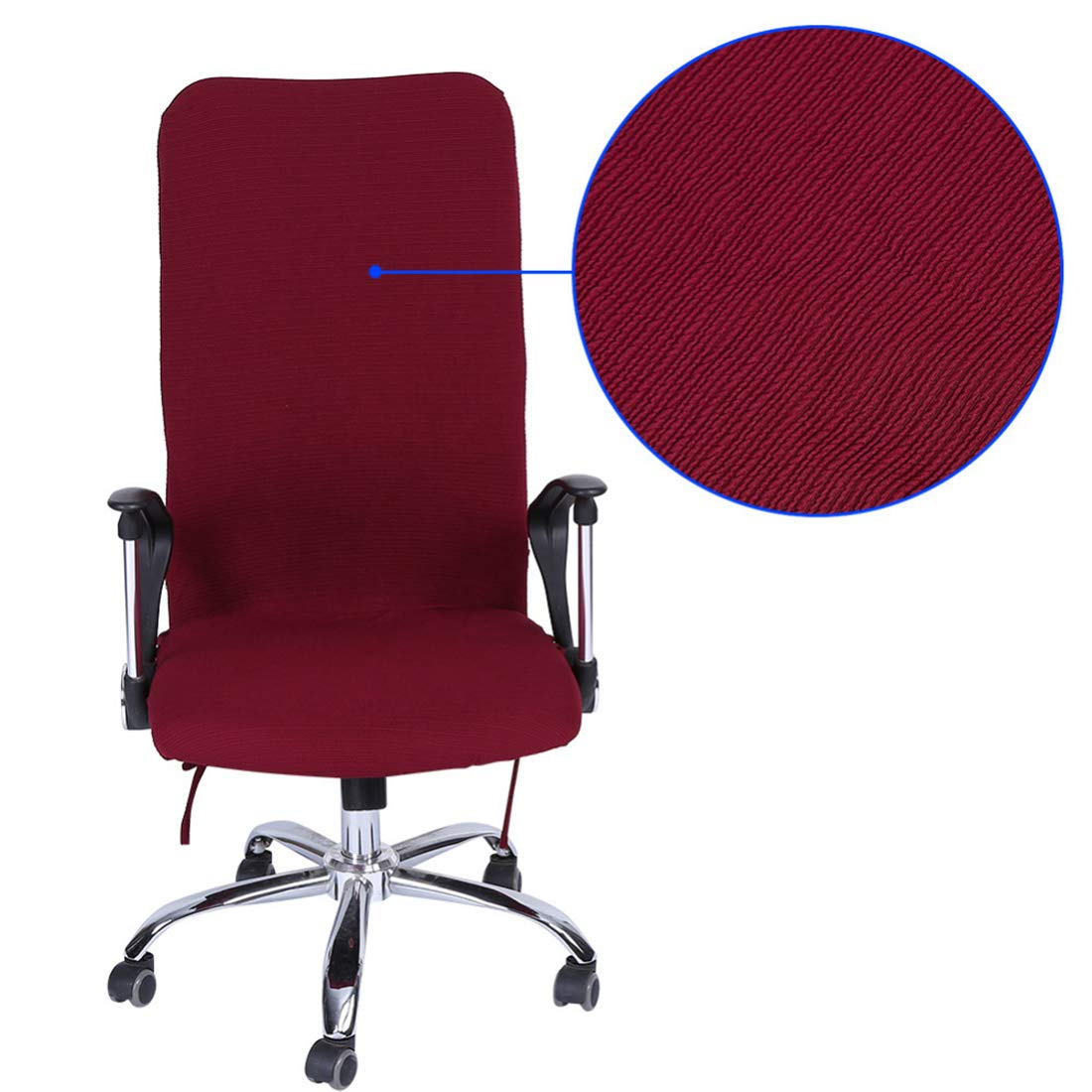 Home & Garden Fashion Checked Computer Office Chair Cover Side Print Arm Chair Cover Seat Slipcover Stretch Rotating Lift Chair Covers