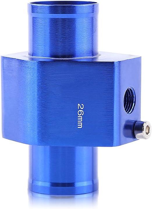 Taille : 34MM VGEBY Sonde Temp/érature De Leau Tuyau Jauge Radiateur Durite Capteur Adapteur Tube Accord Bleu 26-40MM