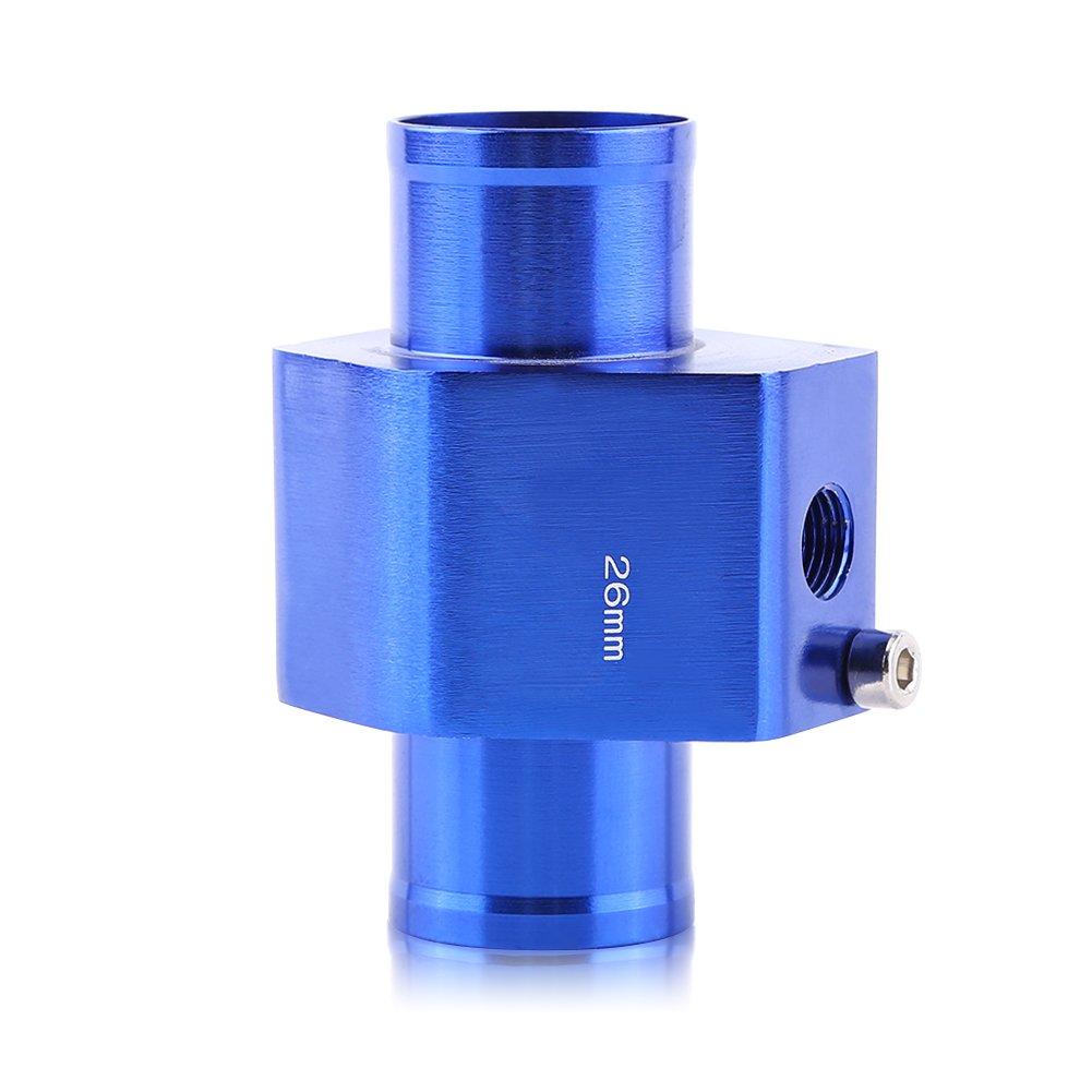 Blue 26mm Aluminum 40mm Universal Water Temp Joint Pipe Water Temp Temperature Joint Pipe Sensor Gauge Radiator Hose Adapter 40mm Keenso