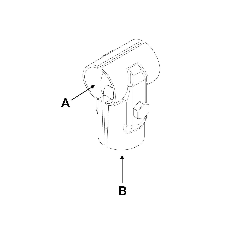 T-Schelle verzahnt 42,4 mm 60,3 mm A 2 x B 1 1//4