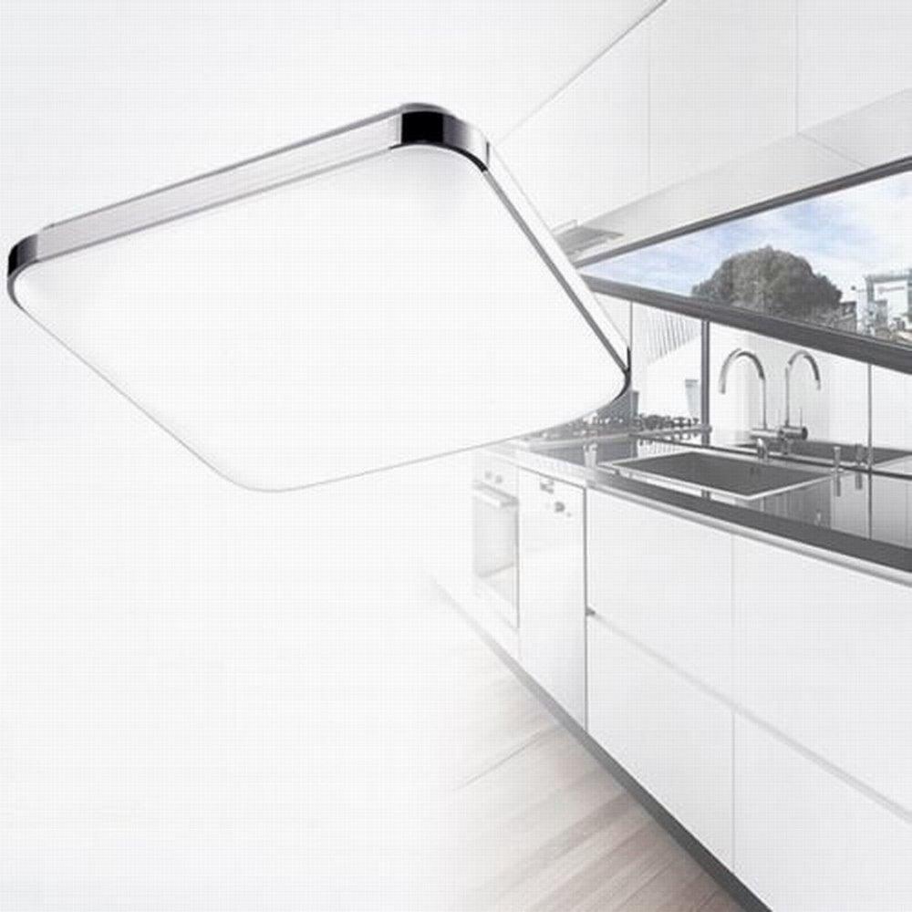 16W 36W 48W 64W 96W Espesamiento LED Moderno Lámpara De Techo Lámpara De Techo Pasillo Salón Cocina Dormitorio De La Lámpara Ahorro De Energía De Luz (48, ...