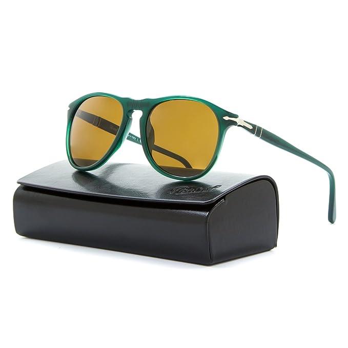 316de7dad0e Persol 9649 Sunglasses 1013 57 Ossidiana Green   Brown Polarized PO9649S 52  mm  Amazon.ca  Clothing   Accessories