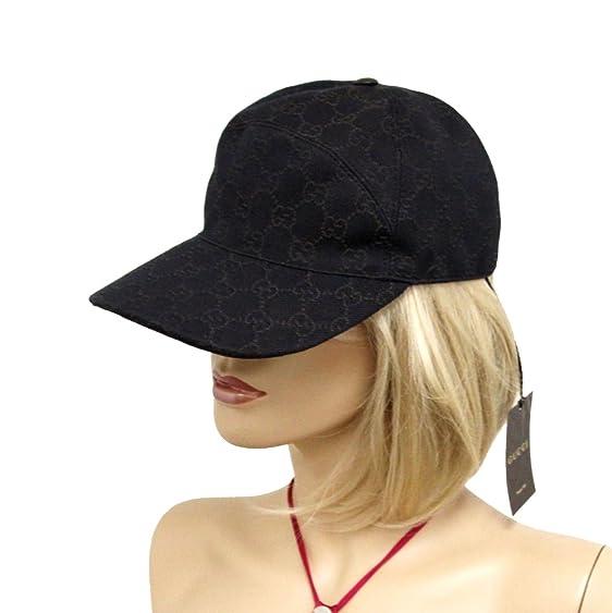 ... Amazon.com Gucci Unisex Brown GG Denim Baseball Hat Cap 328055 (Medium)  Clothing ... 5cfeaf4b0766