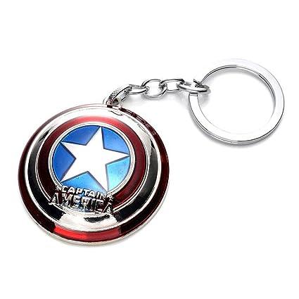 Amazon.com: Close Up Marvel Key Ring Captain America Shield ...