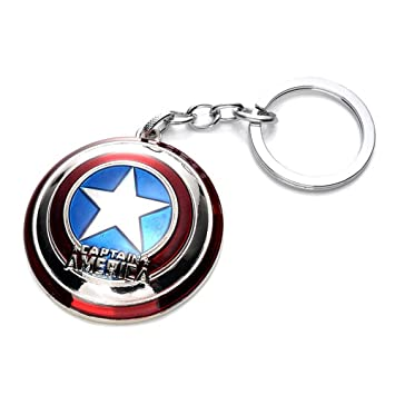 Amazon.com: Close Up Marvel Key Ring Captain America Shield ...