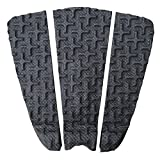 Ho Stevie! Premium Surfboard Traction Pad [Choose Color] 3 Piece, Full Size, Maximum Grip, 3M Adhesive, for Surfing or Skimboarding (Black)