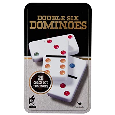 Cardinal Classic Games - Double Six Color Dot Dominoes: Toys & Games