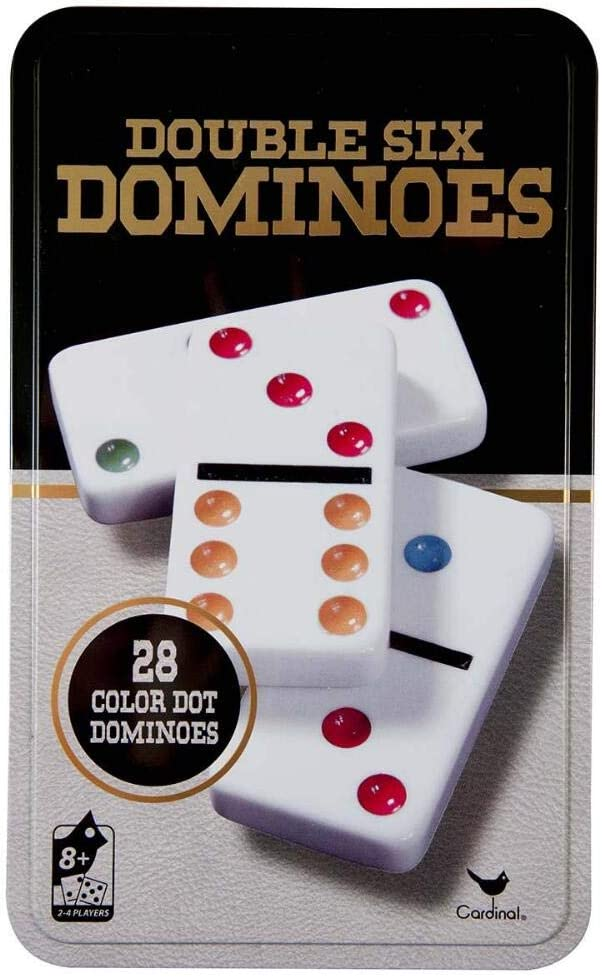Brand NEW Dominoes Cardinal Classic Games Double 6 Six Color Dot Dominoes