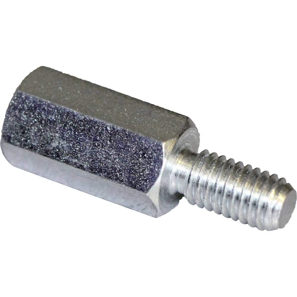 PB Fastener S47040X05 Abstandsbolzen 5 mm M4 x 3 M4 x 8 Stahl verzinkt 10 St. L