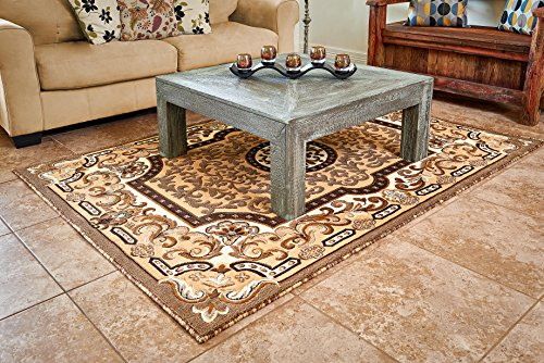 Cosy House Traditional Area Rugs for Indoors & Out | Plush High Pile Olefin Polypropylene | Resists Stains, Soil & Fading | Power Loomed in Turkey, 5'2