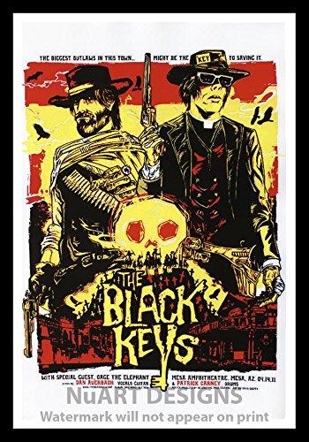 Framed Vintage Rock N Roll Reproduction Poster QuotTHE BLACK KEYSquot