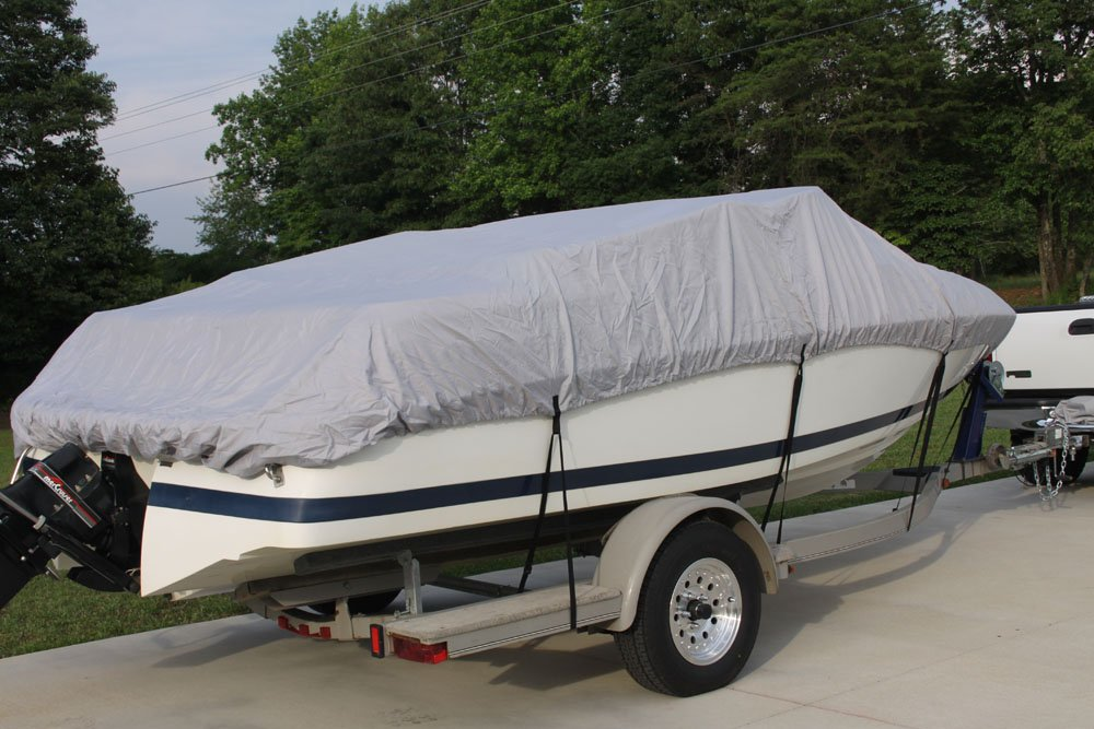 Vortex New Heavy Duty 26 FTGREY VHULL Fish SKI RUNABOUT Cover for 241 to 25 to 26 FT Boat UP to 108 Beam 1 to 4 Business Day DELIVERY