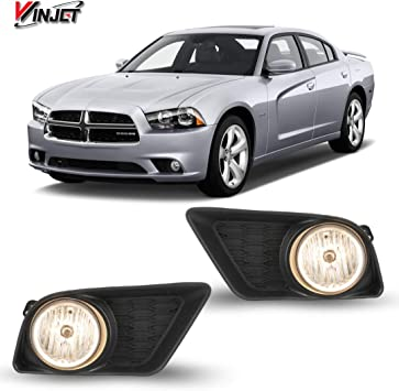 For 2011 2012 2013 2014 Dodge Charger Bumper Fog Lights W// Bulbs /& Switch Kit
