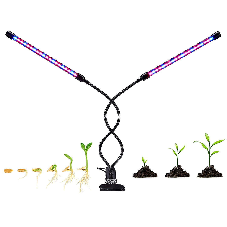 SUNRAISE Gr Lamp (20W), Indoor Plant Grow Lights Full Spectrum, LED G, Black
