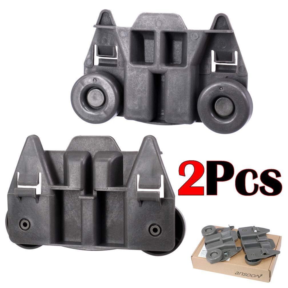 2個パック W10195417 食器洗い機ローラーホイールトラック交換パーツ WhirlpoolおよびKenmore食器洗い機用 - AP4538395 PS2579553 WPW10195417の交換用   B07MD4QVSF