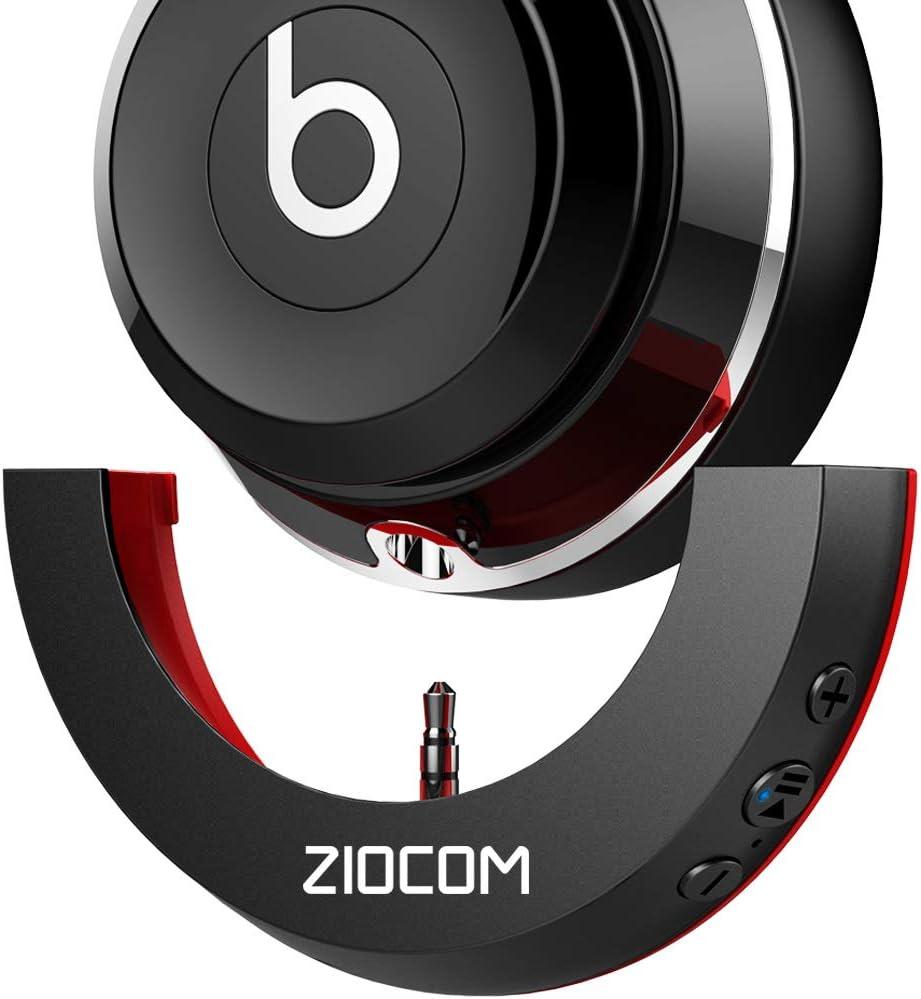 ZIOCOM inalambrico Bluetooth 5.0 Adaptador Recibidor para Beats Solo 2 Auriculares (Solo 2 Adaptador) (Beats Solo 2 Bluetooth Adapter-Black+Red)