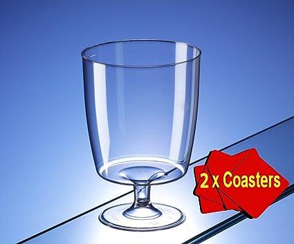 Copas de vino de plástico desechables de una pieza (150 ml) – Ideal para