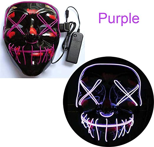 Archi882bal Máscara Halloween Led Light Up para Festival Cosplay ...