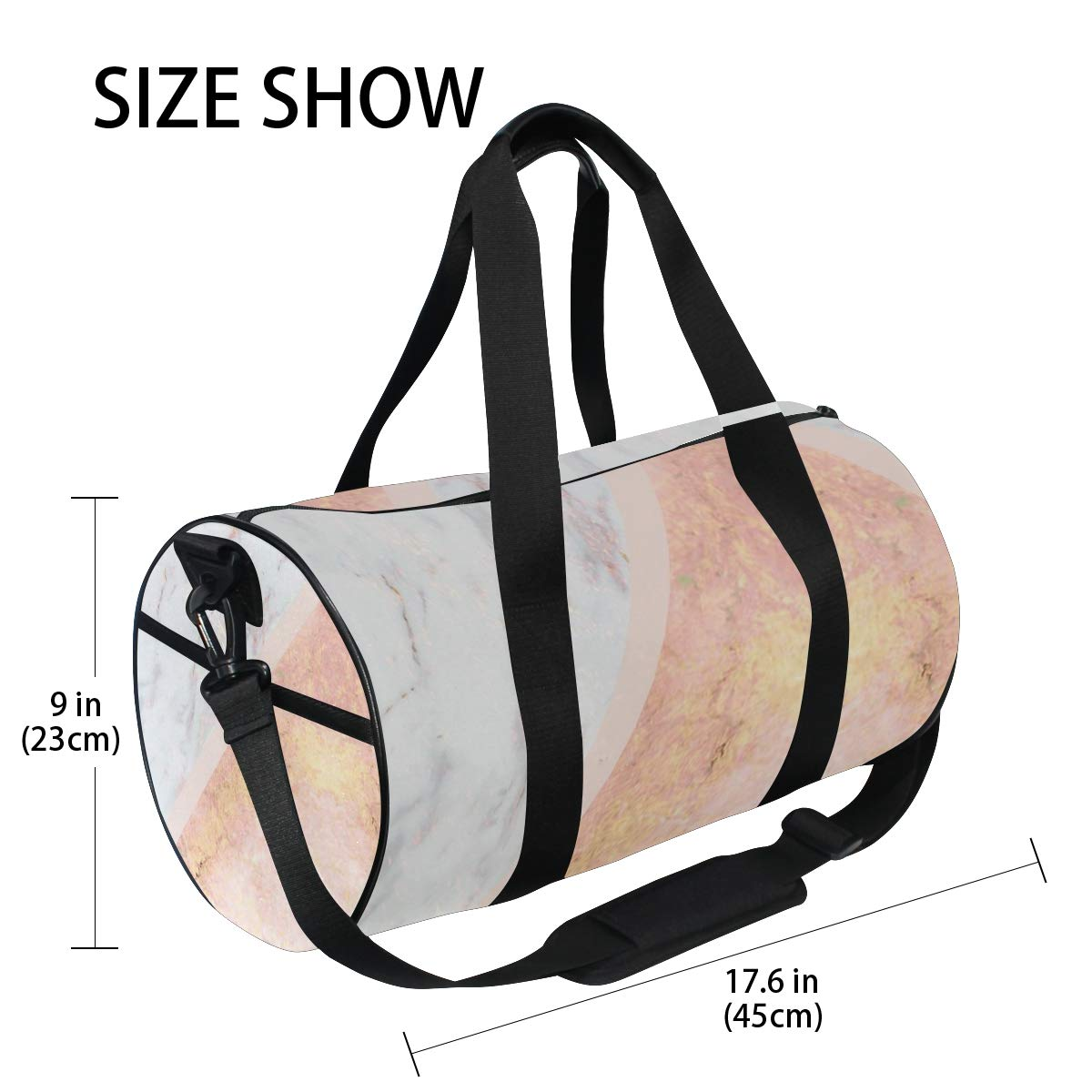 Marble Rose GoldPopular casual fitness bag sports bag suitable for men and women. non-slip wearable handbag crossbody bag