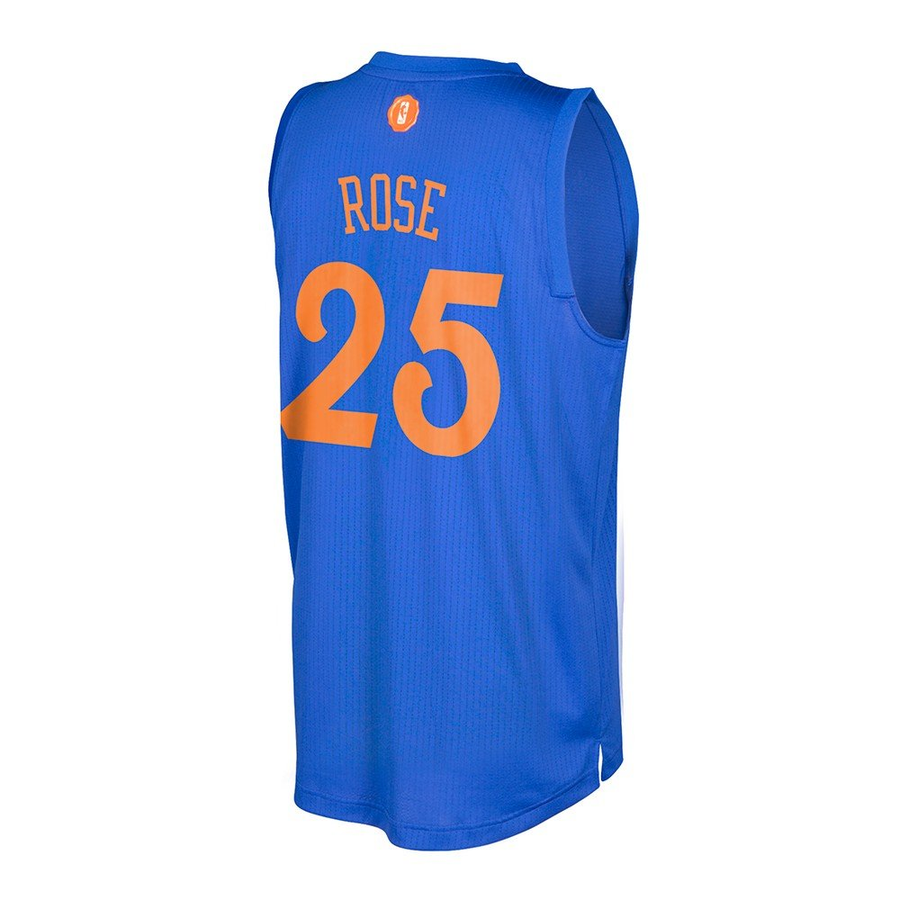 088ea9e1316 Amazon.com   Derrick Rose New York Knicks NBA Adidas Men s Blue 2016  Christmas Day Swingman Climacool Jersey (2XL)   Sports   Outdoors