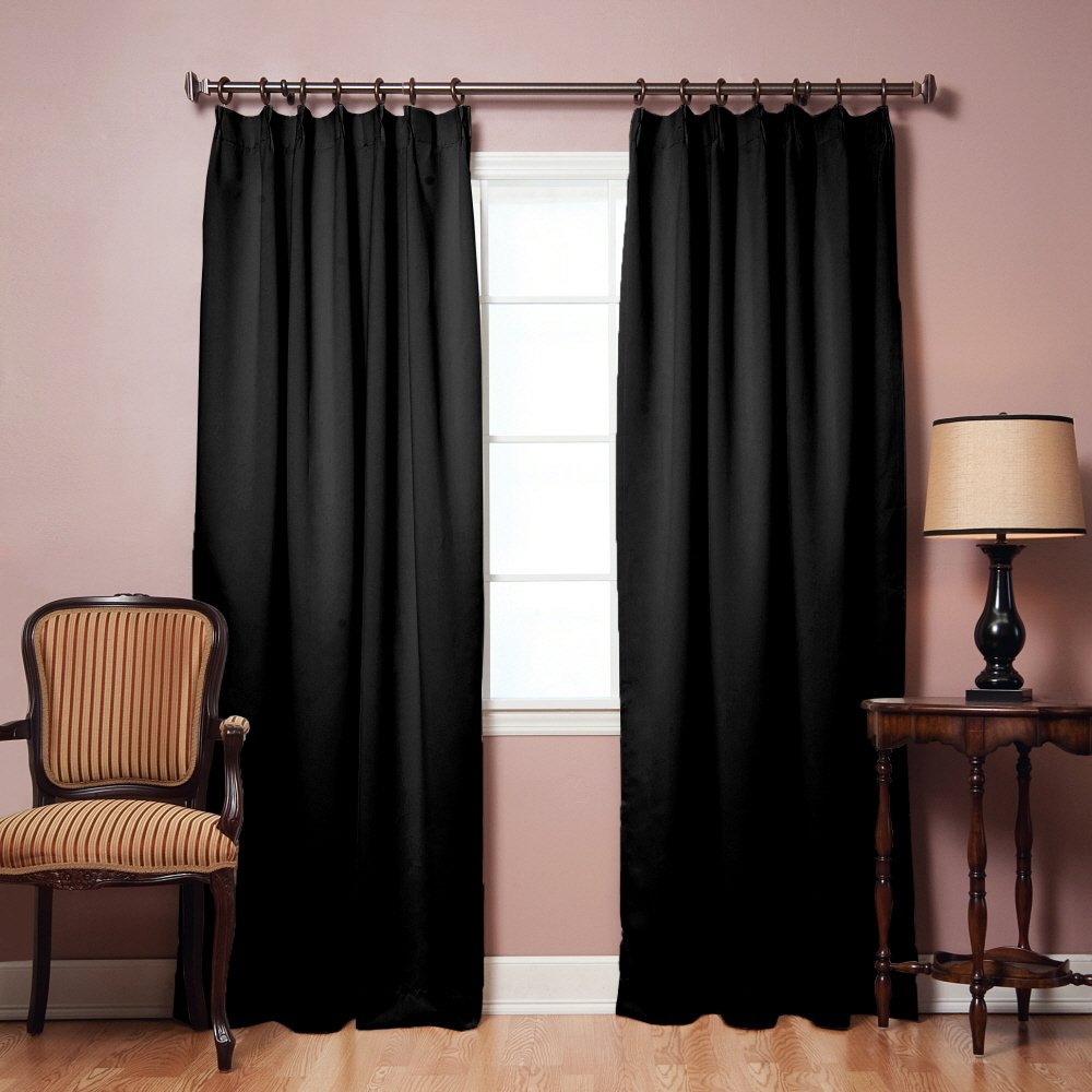 Amazon.com: Pinch Pleated Thermal Insulated Blackout Curtain 40 ... for Pencil Pleat Curtains On Track  300lyp
