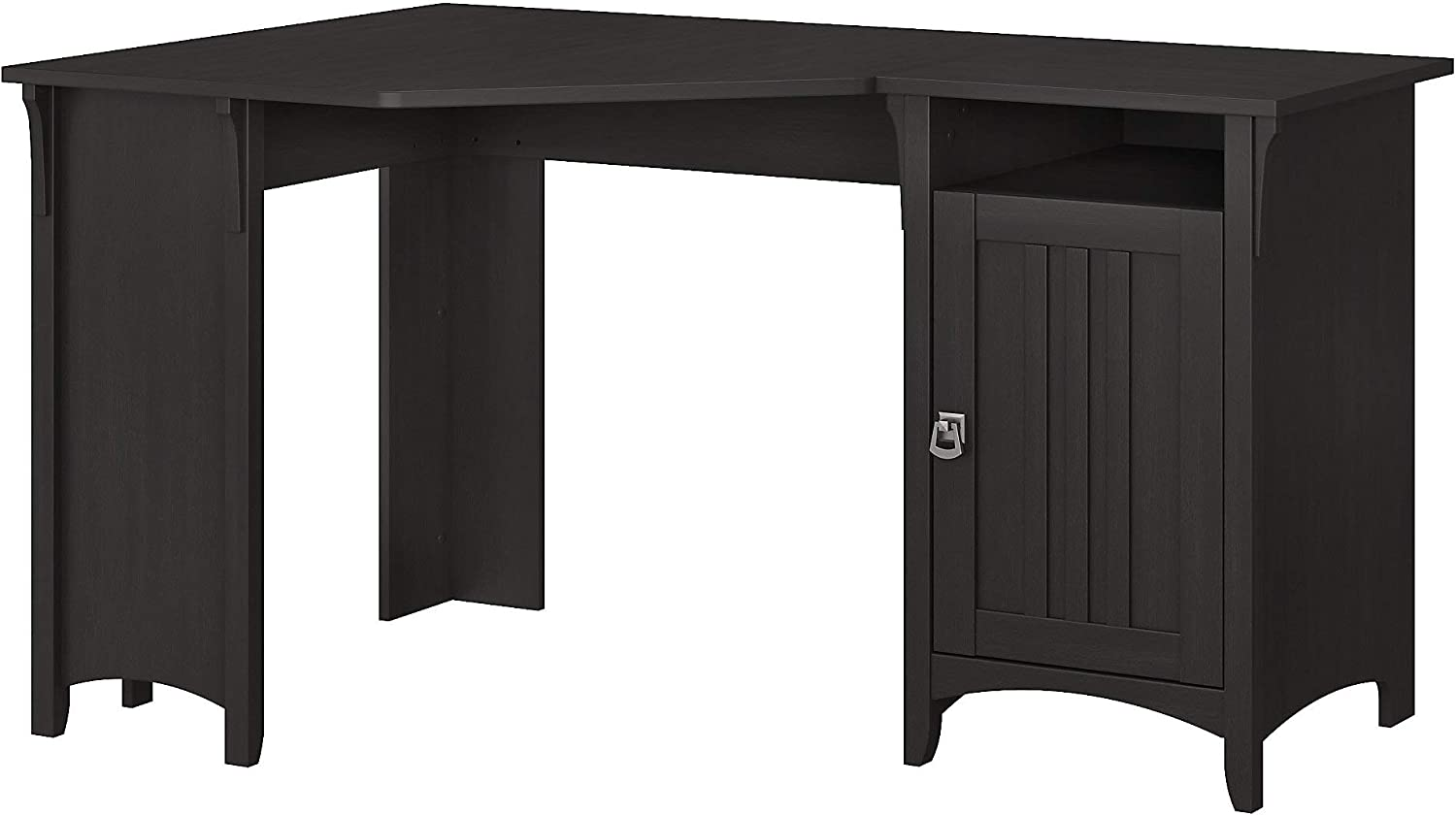Bush Furniture Salinas 55W Corner Desk with Storage in Vintage Black